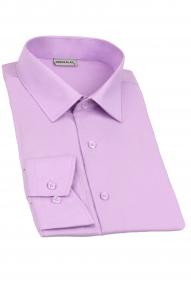 Сорочка мужская Genus Glad 019 (светло-фиолетовый), приталенная