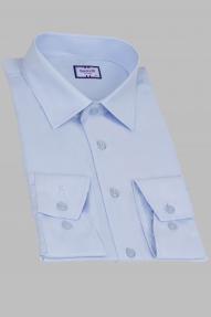Сорочка мужская Bazzelli 0300-BT-2CRC 2021 (бело-голубой)