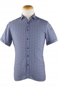 Сорочка мужская Mennsler 050280 (цветной принт)