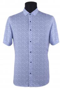 Сорочка мужская Mennsler 050360 норма (белый, синий)