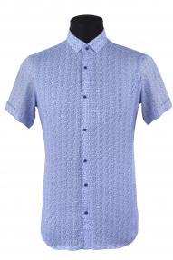 Сорочка мужская Mennsler 050380 норма 1 (белый, синий)