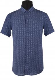 Сорочка мужская Mennsler 050380 Норма (синий)