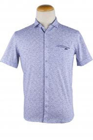 Сорочка мужская Mennsler 050690 Норма (белый, синий)