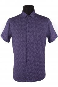 Сорочка мужская Mennsler 05330 норма (сиреневый)