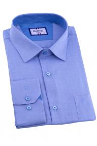 Сорочка мужская Bazzelli 0700-18CRC 2021 (васильковый)