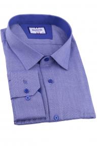 Сорочка мужская Bazzelli 0700-BT-3CRC (синий меланж)