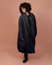 Пальто женское Jane Sarta 098 (чёрный)