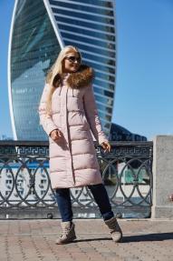 Куртка женская Scanndi (нежно розовый) DW19344 Зима
