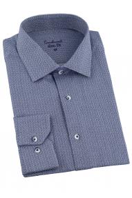 Сорочка мужская Carducci 1048 (серая рябь)