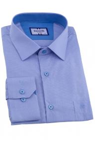 Сорочка мужская Bazzelli 1092-7CRC (васильково-белая клетка)