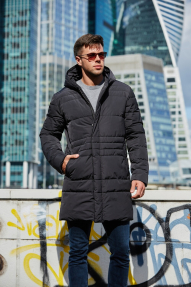 Куртка мужская утепленная Scanndi (графит) CM19020P с подогревом