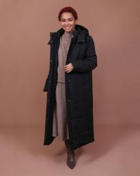 Пальто женское еврозима Jane Sarta 162 (чёрный)