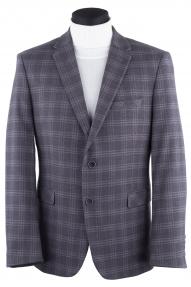 Пиджак мужской BERHARD 1625/1 (серый в клетку)