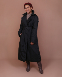 Пальто женское демисезонное Jane Sarta 169 (чёрный)