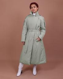 Пальто женское демисезонное Jane Sarta 169 (кремовый хаки)