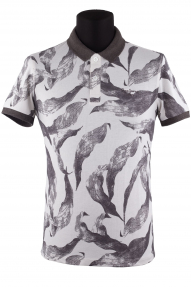 Рубашка поло мужская Pepe jeans 1785 (бежево-серый)