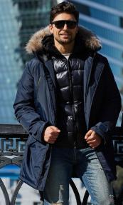 Куртка мужская Scanndi (темно-синий) DM19055