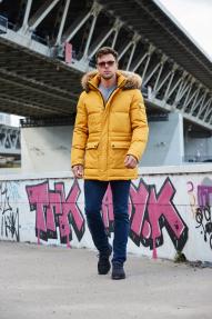 Куртка мужская Scanndi (Желтый) DM19315 Зима