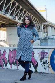 Куртка женская Scanndi (голубой в клетку) DW19378