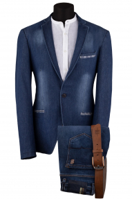 Пиджак мужской Slim Point 2010 (синий джинс)
