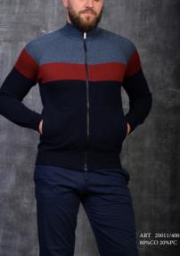 Мужской кардиган Van Cliff 20011/400 (тёмно-синий, бордовый, джинса)