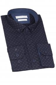 Сорочка мужская CARDUCHI 2022-25CRD (тёмно-синий)