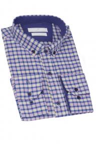 Сорочка мужская CARDUCHI 2026-1CRD (синяя клетка)