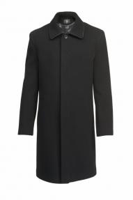 Пальто демисезонное «Alexander» М-203 Батал (черный)