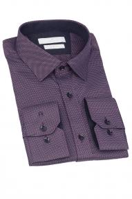 Сорочка мужская CARDUCHI 2044-2CRD (тёмно-фиолетовый)