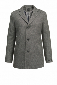 Пальто демисезонное «Alexander» М-205 (черный/серый)