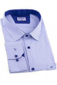 Сорочка мужская Bazzelli 2077-BT-2CRC (сине-голубая полоска)