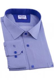 Сорочка мужская Bazzelli 2090-BT-1CRC 2021 (бело-синяя полоска)