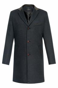 Пальто демисезонное «Alexander» М-210 (черный/серый)