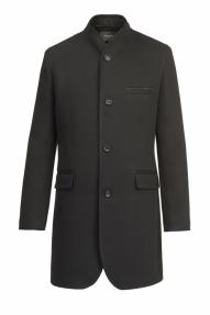 Пальто демисезонное «Alexander» М-212 (черное)