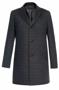 Пальто демисезонное «Alexander» М-215 (черно-серый)