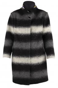 Пальто женское I.KOKAREVA 215 Красотка (чёрный, серый, белый)