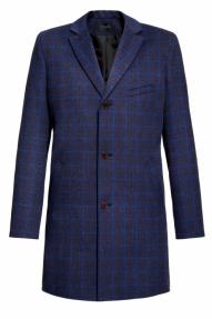 Пальто демисезонное «Alexander» М-215 (синяя клетка)