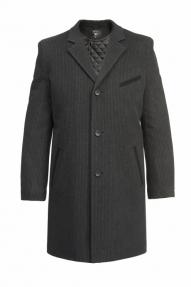 Пальто утепленное «Alexander» М-216 А (Серо-черный)