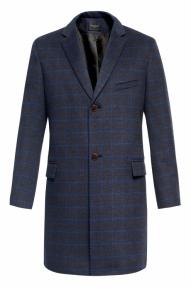 Пальто демисезонное «Alexander» М-218 (темно-синий)