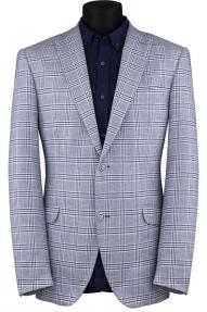 Пиджак мужской TRUVOR 2241 (серый в синюю клетку)