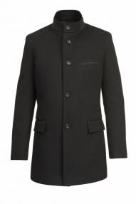 Пальто демисезонное «Alexander» М-226 (черный/тёмно-серый)
