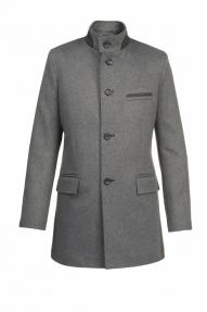 Пальто демисезонное «Alexander» М-226 (черный/серый)