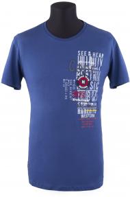 Футболка мужская NOVEL G-2501 (тёмно-голубой)