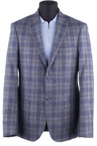 Пиджак мужской Carducci 25101 (серый, синяя клетка)