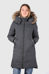 Пуховое пальто женское LAPLANGER Скандия (графит)
