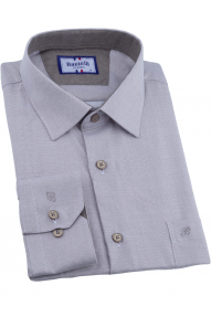 Сорочка мужская Bazzelli 3014-1CRC (бежево-серый)