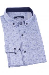 Сорочка мужская MCR 37002 (голубой с принтом)