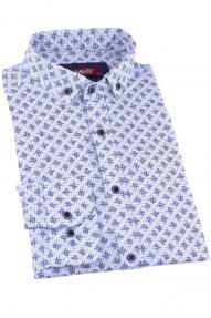 Сорочка мужская MCR 37263 (белый с принтом)
