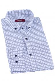Сорочка мужская MCR 37283 (белый с принтом)