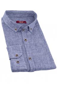 Сорочка мужская MCR 37356 Батал (серо-синий меланж)